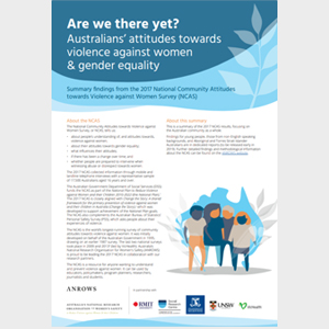 Are we there yet? Australian's attitudes towards violence against women & gender equality